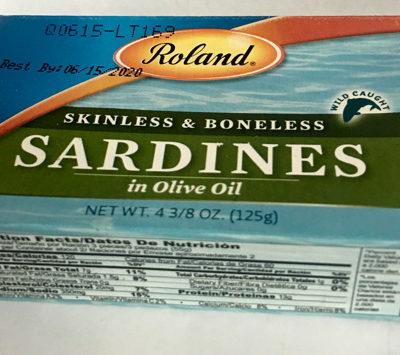 Skinless / Boneless Sardines 4 Oz. Roland