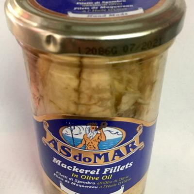 Sgombro (Mackerel)Fillets In Olive Oil As Do Mar