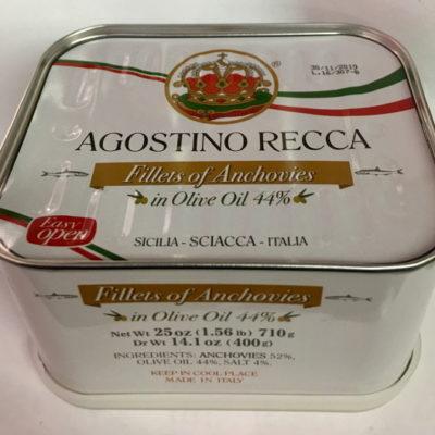 Recca Anchovies In Pure Olive Oil 25 Oz