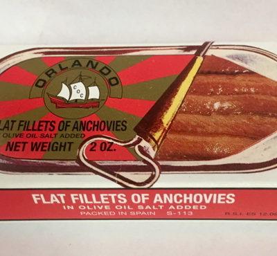 Orlando Anchovies 2oz Tin Skinless/boneless In Oil