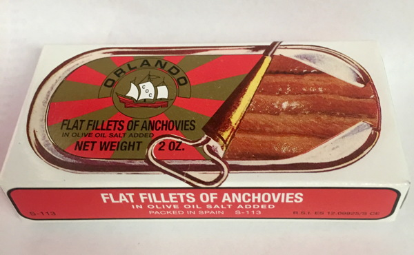 Orlando Anchovies 2oz Tin Skinless/boneless In Oil