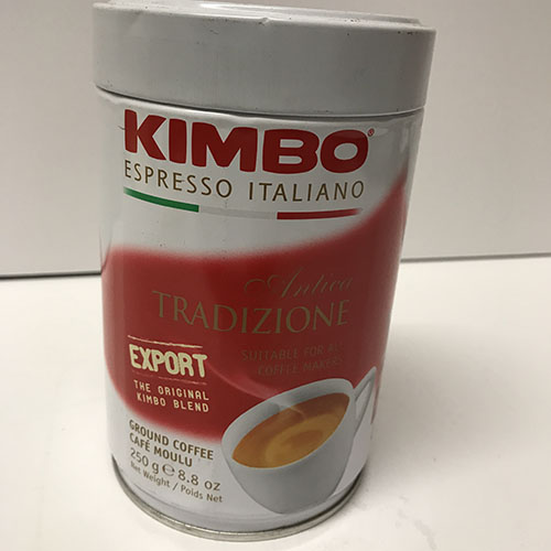 Kimbo White Traditional Coffee 8.5oz Can