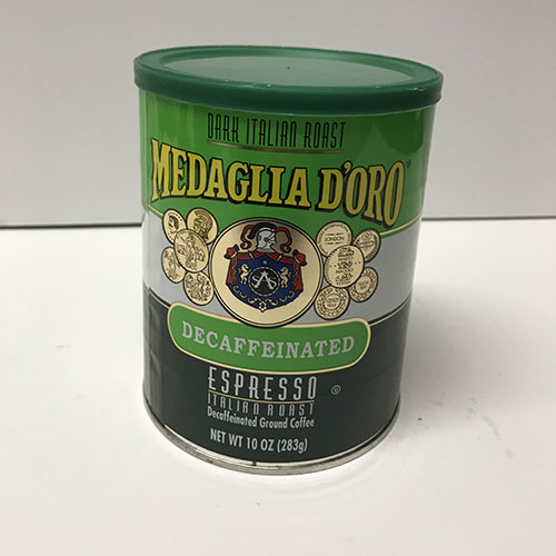 Medaglia D'Oro Decaffeinated Coffee 10oz Can